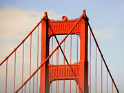 Single Posters - Golden Gate Bridge - Nothing equals its majesty Poster by Christine Till