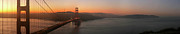 Headlands Photos - Golden Gate Bridge and Presidio at Dawn by Matt Tilghman