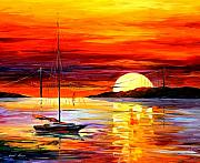 Afremov Art - Golden Gate Bridge By The Sunset by Leonid Afremov