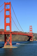 Golden Gate Framed Prints - Golden Gate Bridge California Framed Print by Pierre Leclerc