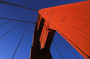 The Golden Gate Prints - Golden Gate Bridge Detail Print by Bob Christopher