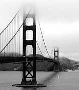 Black And White City Prints - Golden Gate Bridge Print by Federica Gentile