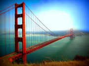 Golden Gate Bridge Acrylic Prints - Golden Gate Bridge Acrylic Print by Jen White