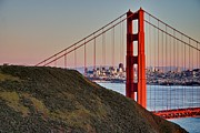 Bay Bridge Pyrography Metal Prints - Golden Gate Bridge Metal Print by John Scharle