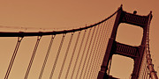 Olia Saunders Art - Golden Gate Bridge San Francisco  by Design Remix