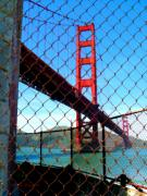 Golden Gate Mixed Media - Golden Gate bridge SF by Nick Diemel