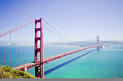 Standing Water Prints - Golden Gate Bridge Print by Shaowan