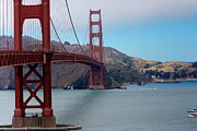 Travel Photography Photos - Golden Gate Bridge by Sophie Vigneault