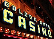 Freemont Street Prints - Golden Gate Casino Print by John Rizzuto