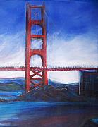 Golden Gate Drawings Posters - Golden Gate Poster by Eric  Schiabor