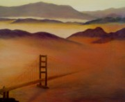 Haze Painting Prints - Golden Gate Fog Print by Jamie Frier
