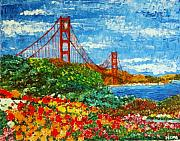 Sanfrancisco Paintings - Golden Gate Garden by Hema Sukumar
