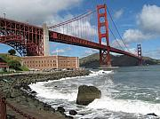 Color Print Framed Prints - Golden gate Framed Print by Kim Pascu