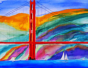 Sanfrancisco Paintings - Golden Gate by Nicholas Vitale