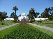 Conservatory Of Flowers Photos - Golden Gate Park Sunny Day by Sharon Donahue