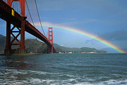 Golden Gate National Recreation Area Photos - Golden Gate Rainbow by Ei Katsumata