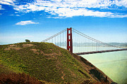 Textured Landscapes Digital Art - Golden Gate Revisited by Ellen Cotton