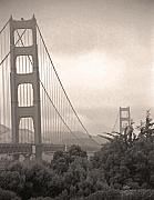 Tourist Attraction Digital Art - Golden Gate Sepia by Steve Ohlsen
