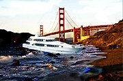 San Francisco Cali Posters - Golden Gate Shipwreck Poster by Kelly Turner