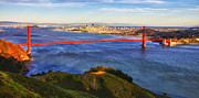 Alcatraz Prints - Golden Gate Sunset 1. 12x6 Pano Print by Laszlo Rekasi