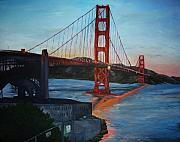 San Francisco Painting Metal Prints - Golden Gate Metal Print by Travis Day
