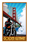 Two Wheeler Digital Art - Golden Getaway by Steven Schader