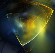 Ghost Digital Art - Golden Ghost Traces 111211 by David Lane