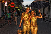 French Signs Art - Golden Girls of Bourbon Street  by Kathleen K Parker