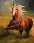 Equines Metal Prints - Golden Heart Metal Print by Diane Williams