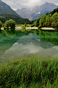 Slovenia Photos - Golden Horn Lake by Don Wolf