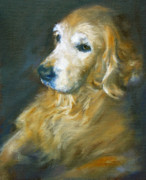 Dog Paintings - Golden Lab by Jill Brabant