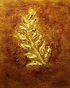 Gold Mixed Media - Golden Leaf by Marsha Heiken