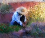 Hats Art - Golden Light by Colleen Taylor