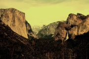 Yosemite Village Prints - Golden Light Over Yosemite Valley Print by Wingsdomain Art and Photography