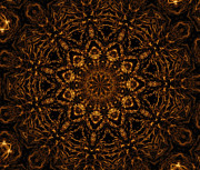 Mandalas Digital Art - Golden Mandala 4 by Rhonda Barrett