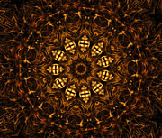 Unity Digital Art Posters - Golden Mandala 6 Poster by Rhonda Barrett