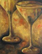 Martini Paintings - Golden Martinis by Torrie Smiley
