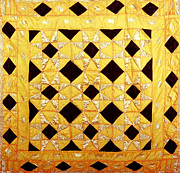 Large Tapestries - Textiles - Golden by Mildred Thibodeaux