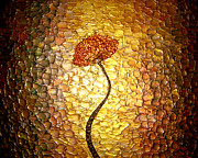 Floral Sculpture Metal Prints - Golden Morning Metal Print by Daniel Lafferty