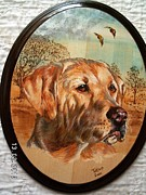 Pet Portraits Pyrography - Golden Morning by John Tatham