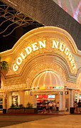 Fremont Street Framed Prints - Golden Nugget Framed Print by Viktor Savchenko