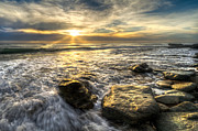 Jupiter Inlet Prints - Golden Nuggets Print by Debra and Dave Vanderlaan
