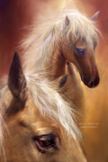 Equine Mixed Media Prints - Golden Palomino Print by Carol Cavalaris