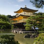 Buddhism Art - Golden Pavilion, A Buddhist Temple by Keith Levit