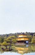 Japanese Village Prints - Golden Pavilion Print by Grant Faint