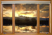 Striking Photography Prints - Golden Ponds Window with a View Print by James Bo Insogna
