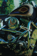 Harley Davidson Paintings - Golden Pride by Lisa Prusinski