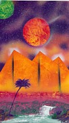 Marc Chambers Prints - Golden pyramid sunrise Print by Marc Chambers