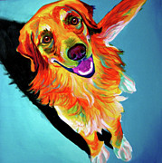 Dawgart Prints - Golden Retriever - Tyler Print by Alicia VanNoy Call