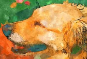 Golden Retriever Mixed Media - Golden Retriever by Chris Reed